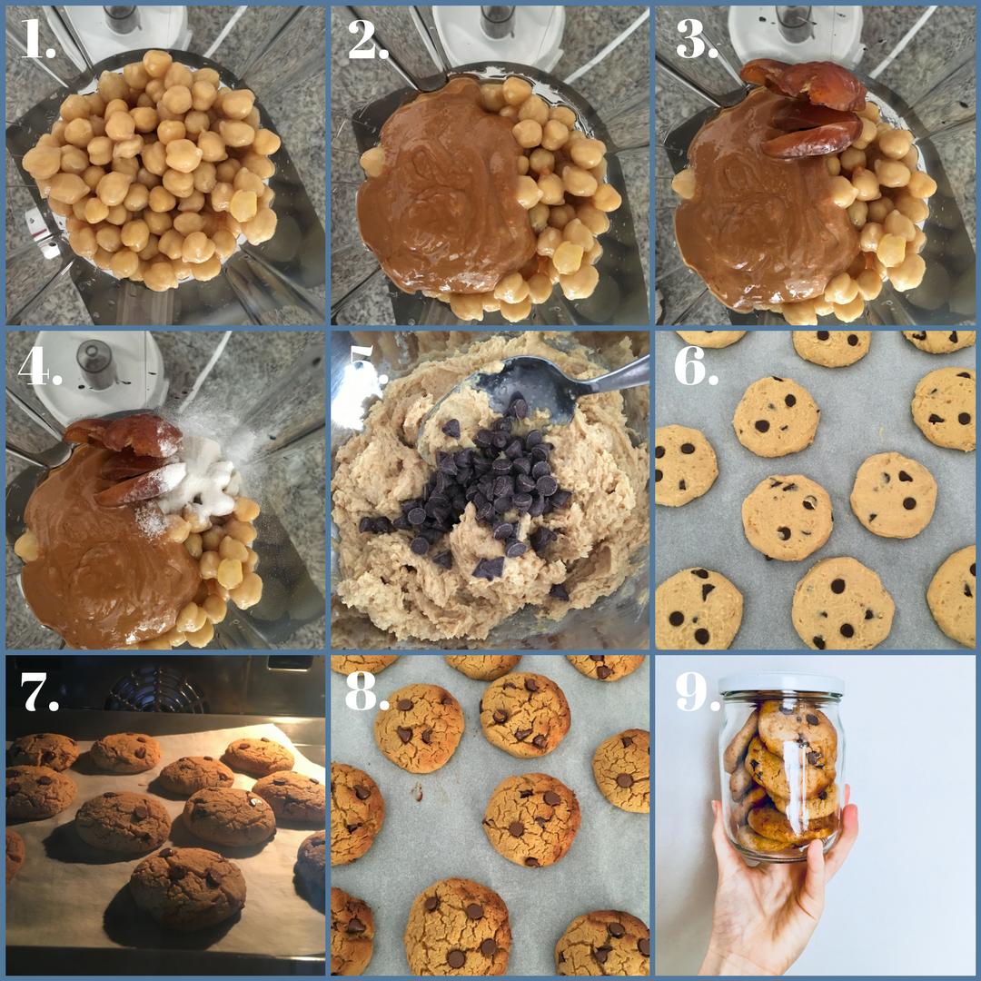 Receta galletas de garbanzos