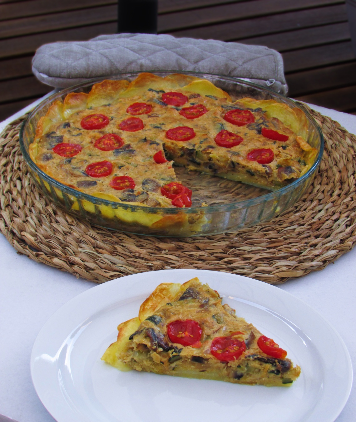 quiche de verdura saludable