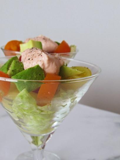 coctel con salsa rosa vegana